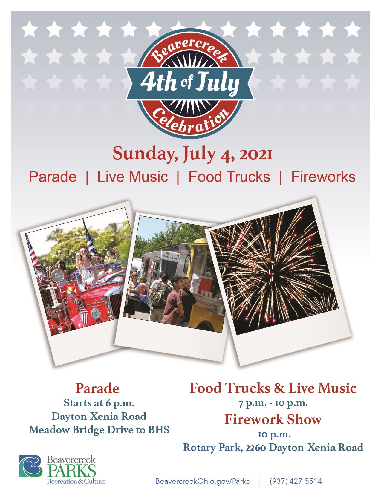 2021 Fourth of July flyer